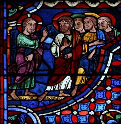 Jésus annonce aux apôtres sa Passion - cathédrale de Chartres