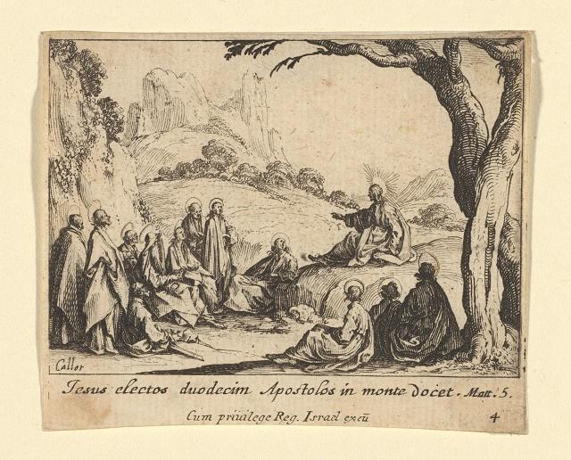 Le sermon sur la montagne Jacques Callot 1635