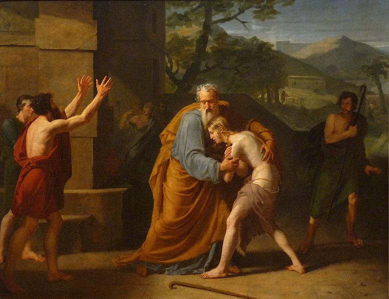 Le Retour du fils prodigue - Michel Martin Drolling  (1786–1851) musée des Beaux-Arts de Strasbourg