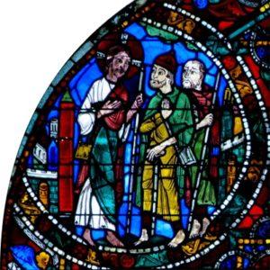 Jésus et les pèlerins d'Emmaüs -1- Chartres