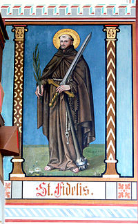 Fidèle de Sigmaringen, vénéré en la cathédrale Notre-Dame-de-l'Assomption de Coire
