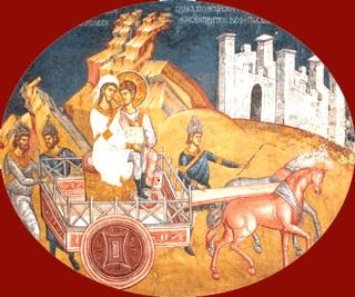 Philippe et l'Eunuque de la reine Candace (Decani Monastery)