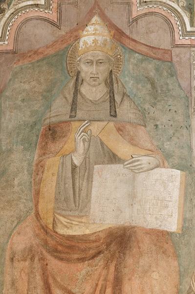 Célestin V par Niccolò di Tommaso (+1376), Castel Nuovo Naples