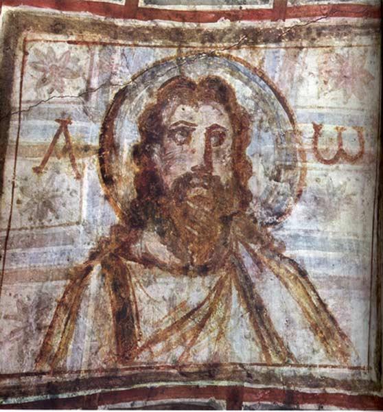 Christ Pasteur, provenant des catacombes romaines