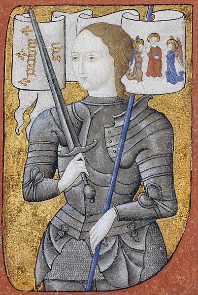 Jeanne d'Arc -Lettrine historiée - Archives nationales (France) - AE-II-2490