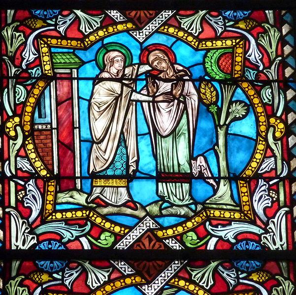 Visitation vitrail Notre-Dame Saint Mandé 94