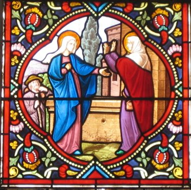 Visitation vitrail Saint-Leu-Saint-Gilles Paris