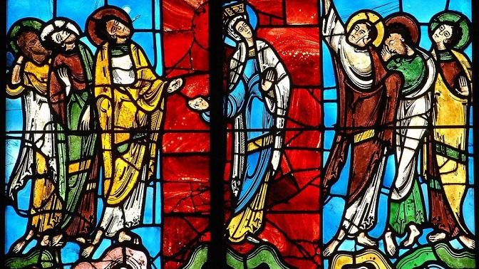 Vitrail de l'Ascension cathédrale Saint-Julien Le Mans