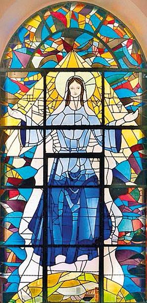 ASSOMPTION Vitrail - Église de l'Assomption Saint-Denis de la Réunion