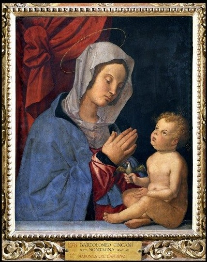 Bartolomeo Montagna (vers 1450-1523), La Vierge à l'Enfant, vers 1503. ©Musei Vaticani
