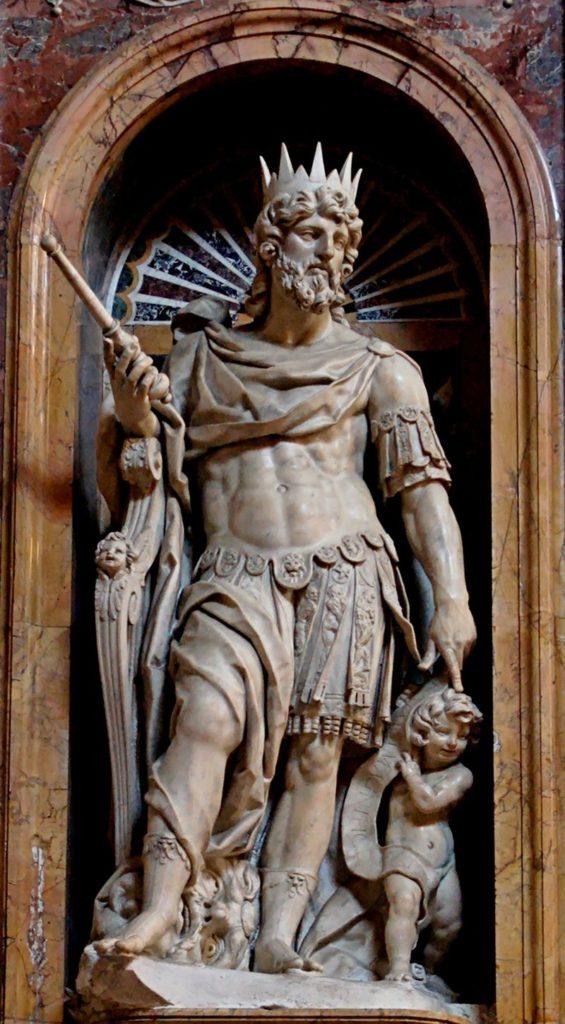 Statue de David par Nicolas Cordier, Basilique Sainte Marie Majeure Rome