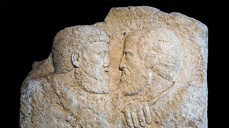 Saints Pierre et Paul d'après un antique relief