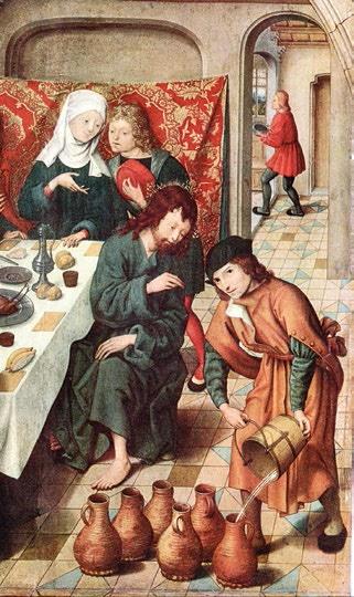 Le maître de Saint Bartolomé -LES NOCES DE CANA (détail) (XVIe siècle) - Bruxelles