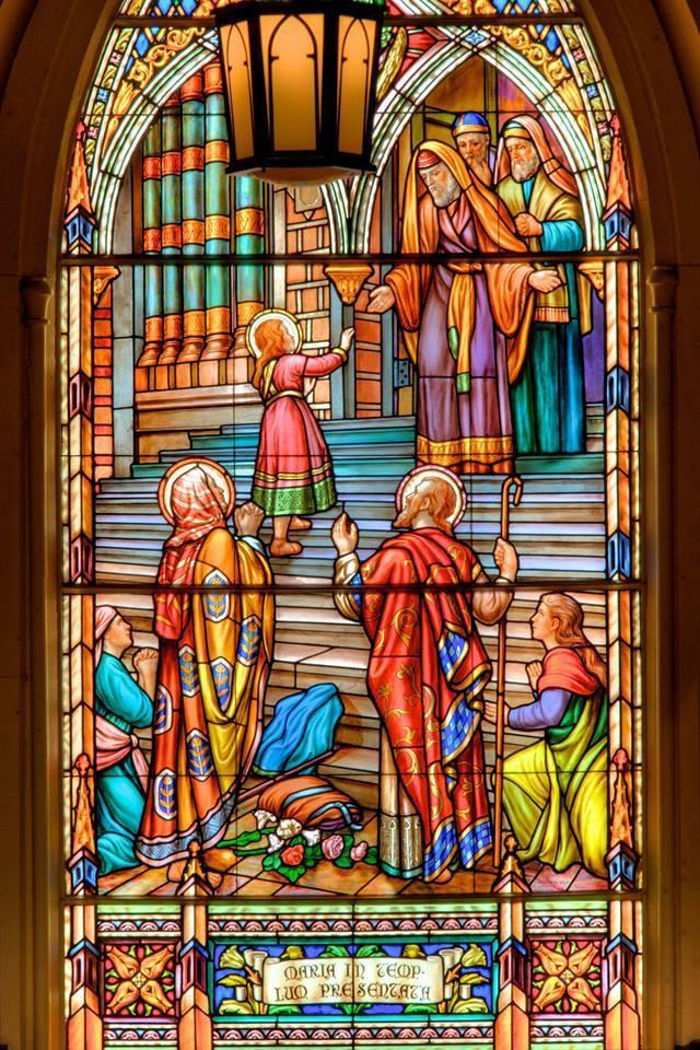 Présentation de Marie au Temple - Vitraux de la nef - Cathédrale Notre-Dame - Ottawa