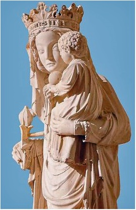 Statue de la Vierge du pilier de Notre Dame de Paris