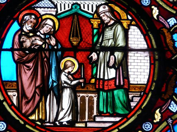 Présentation de Marie -Baie église sainte Radegoude - Poitiers 86
