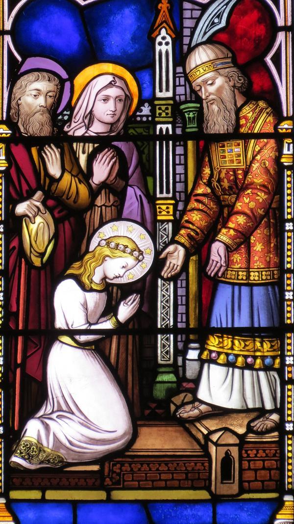 vitrail Sainte Marie présentation au Temple - Kingston - Ontario - Canada