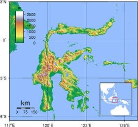 Sulawesi Topography