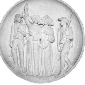 médaillon Soeurs d'angers Marie-Anne et Odile, martyres - Chapelle rue du Bac