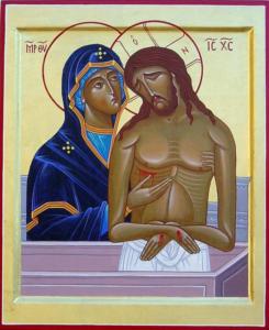 Jésus mort dans les bras de sa Mère
