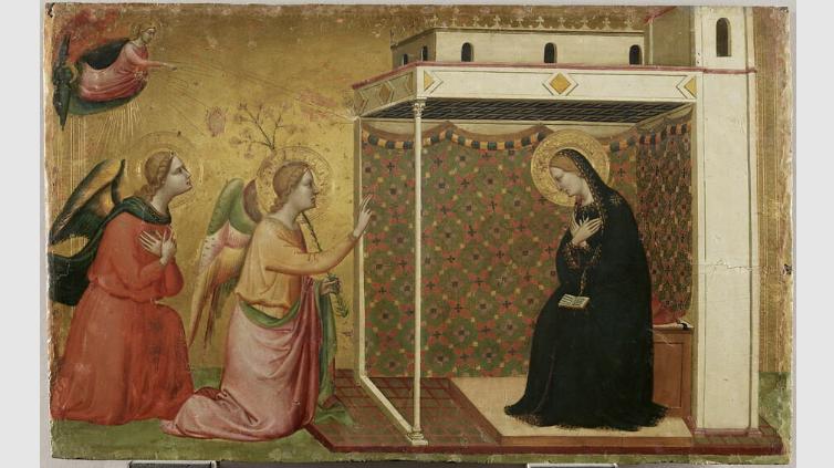 L'Annonciation Bernardo Daddi vers1335 école de Florence Louvre