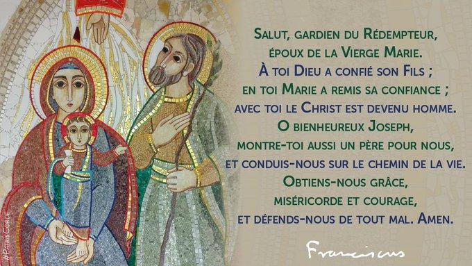 prière du Pape à Saint Joseph