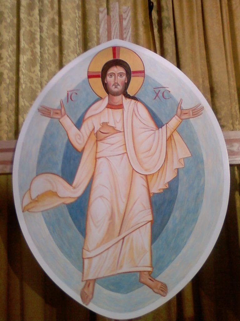 Christ ressuscité en mandorle -N.-D. du Marillais 49