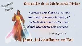 Dimanche de la Miséricorde Divine