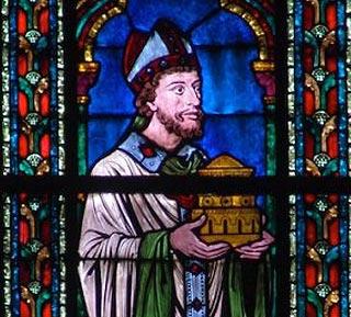Maurice de Sully - vitrail dans Notre-Dame de Paris
