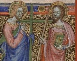 Saints Philippe et Jacques le mineur (© BAV, Vat. lat. 14701, f. 312v)