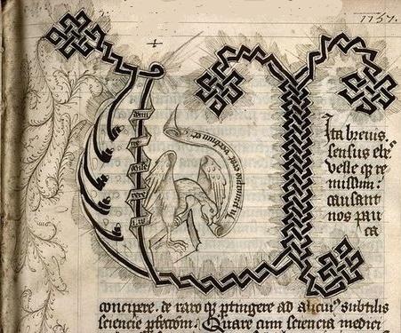Aigle de saint Jean Paris, Bibl. Sainte-Geneviève, 1030 f. 004