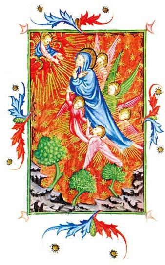 miniature de l'école lombarde XIVe siècle