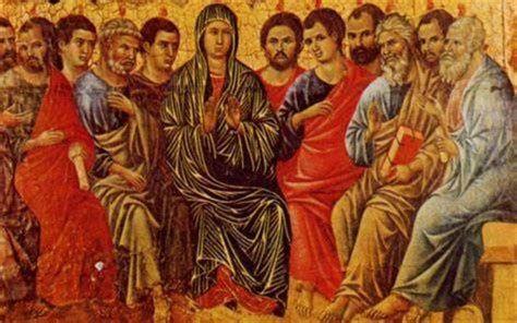 Marie au cénacle Ducio di Buoninsegna