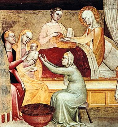 LA NAISSANCE DE MARIE (1356) détail - Giovanni da Milano - Florence D.R.