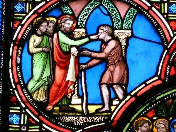 Jésus et le sourd-muet baie 1 - 1840 - Saint Germain l'Auxerrois - Paris