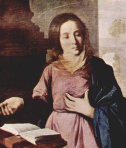 Francisco de Zurbarian Marie (détail) 1638 Musée des Beaux-Arts Grenoble   DR